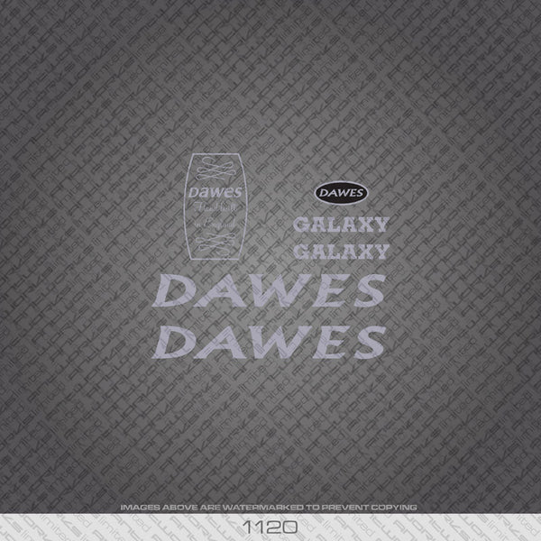 Dawes Galaxy Bicycle Decals - Silver - www.bicyclestickers.co.uk