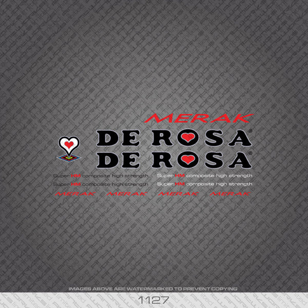 De Rosa Merak Bicycle Decals - www.bicyclestickers.co.uk
