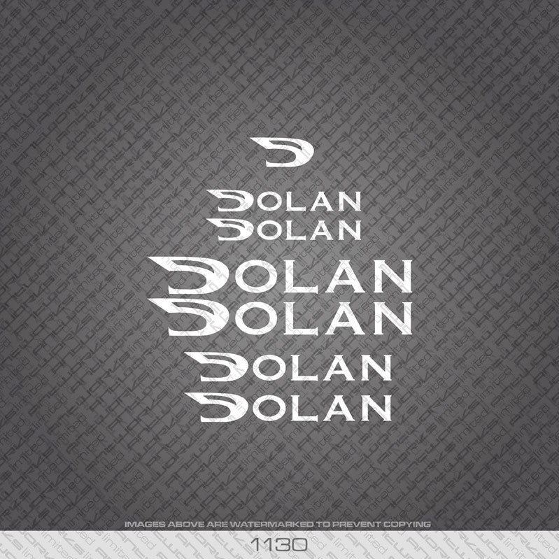 Dolan Bicycle Decals - Available In 5 Different Colours - www.bicyclestickers.co.uk