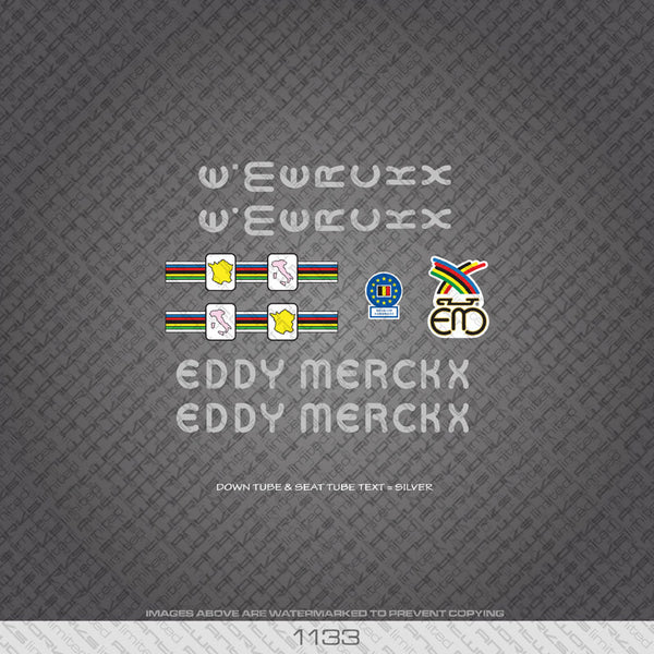 Eddy Merckx Bicycle Decals - www.bicyclestickers.co.uk