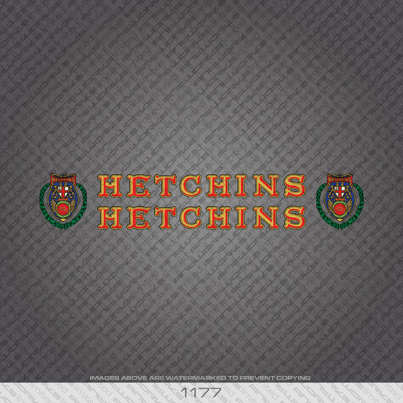 Hetchins Bicycle Decals - www.bicyclestickers.co.uk