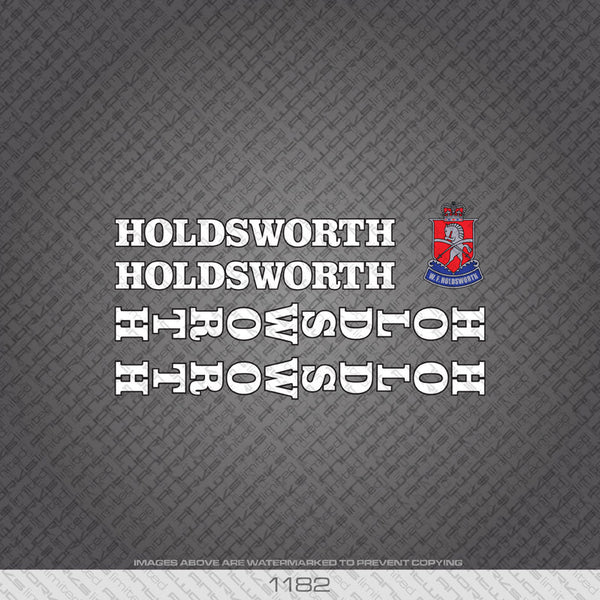 Holdsworth Bicycle Decals - White With Black Keyline - www.bicyclestickers.co.uk