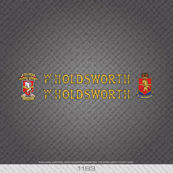Holdsworth Bicycle Decals - Gold - www.bicyclestickers.co.uk