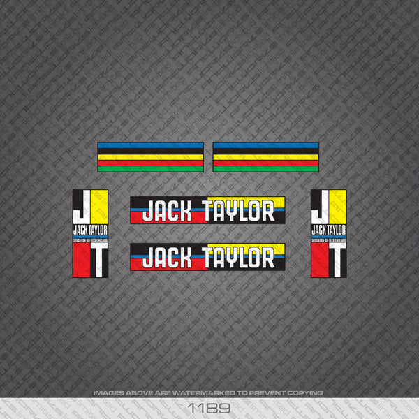 Jack Taylor Bicycle Decals - www.bicyclestickers.co.uk
