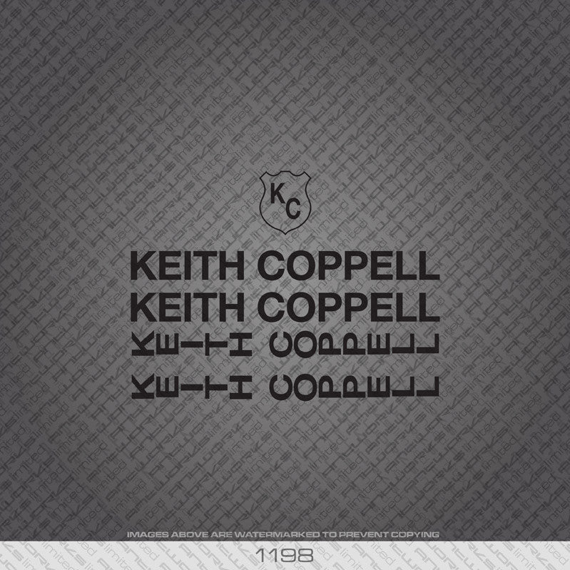 Keith Coppell Bicycle Decals - www.bicyclestickers.co.uk