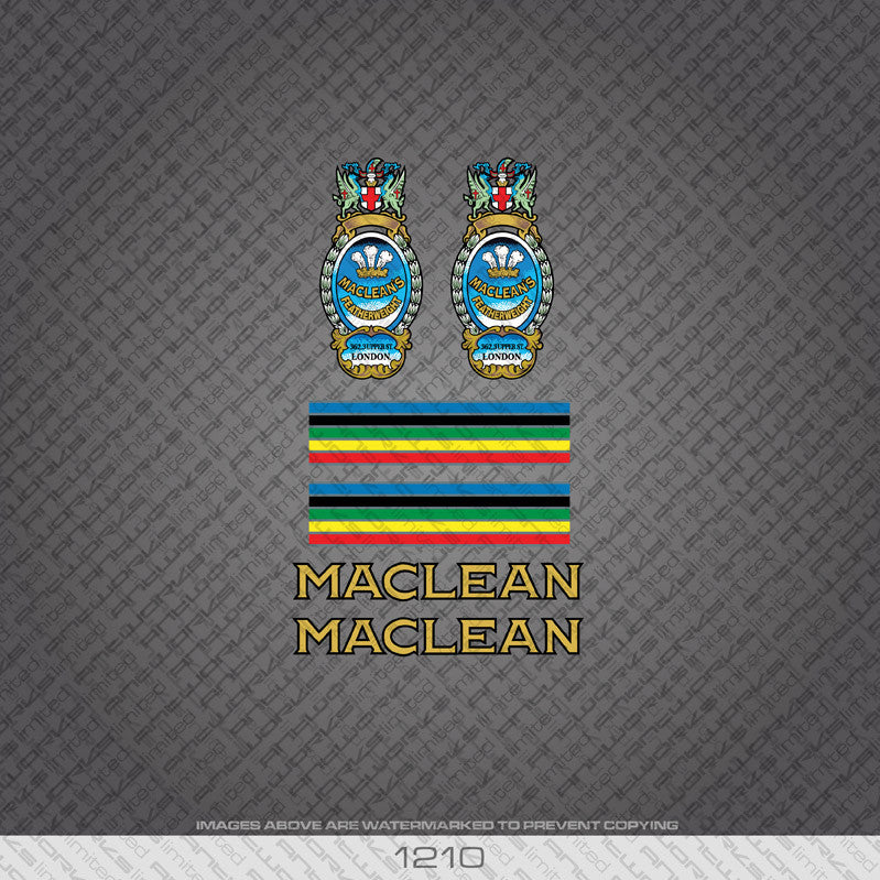 Maclean Bicycle Decals - Gold - www.bicyclestickers.co.uk