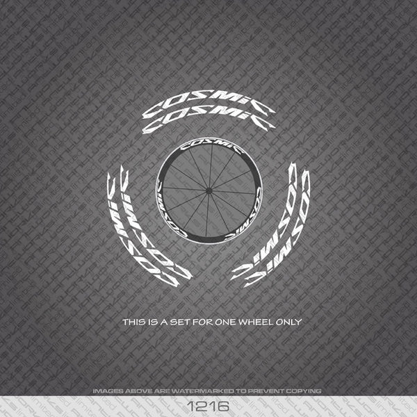 Mavic Cosmic Bicycle Wheel Decals - White - www.bicyclestickers.co.uk