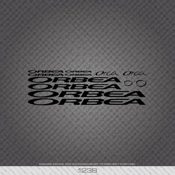 Orbea Orca Bicycle Decals - Black - www.bicyclestickers.co.uk