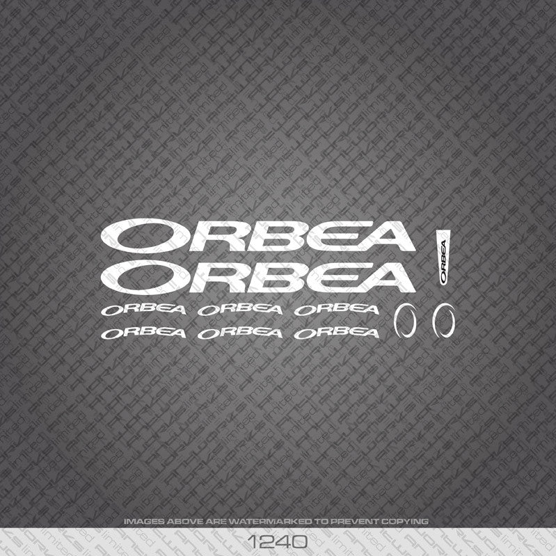 Orbea TT Bicycle Decals - White - www.bicyclestickers.co.uk