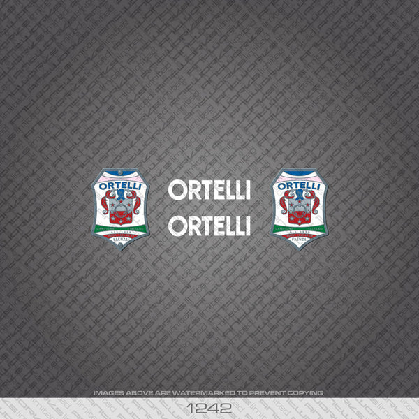 Ortelli Bicycle Decals - White - www.bicyclestickers.co.uk