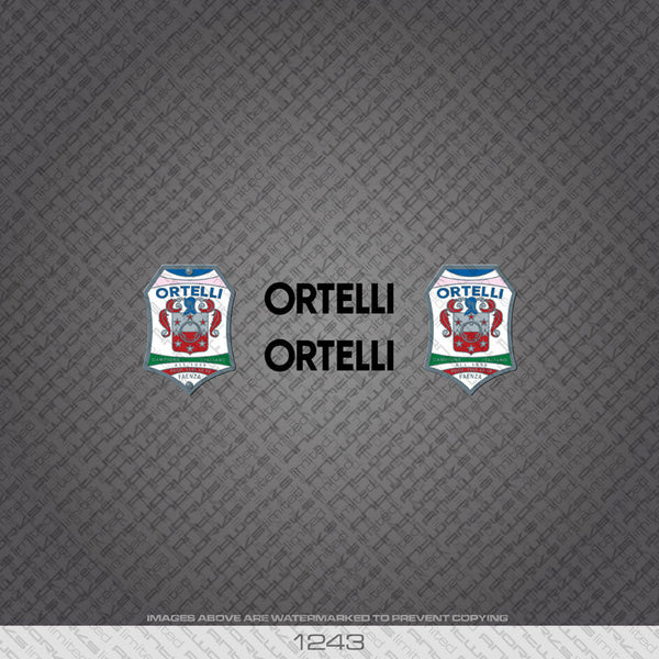 Ortelli Bicycle Decals - Black - www.bicyclestickers.co.uk