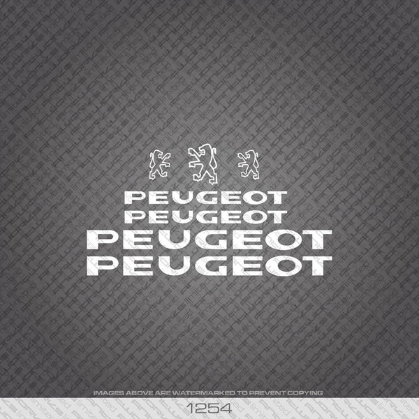 Peugeot Bicycle Decals - www.bicyclestickers.co.uk