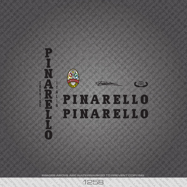 Pinarello Bicycle Decals - Black - www.bicyclestickers.co.uk
