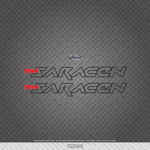 Saracen Bicycle Decals - Black - www.bicyclestickers.co.uk