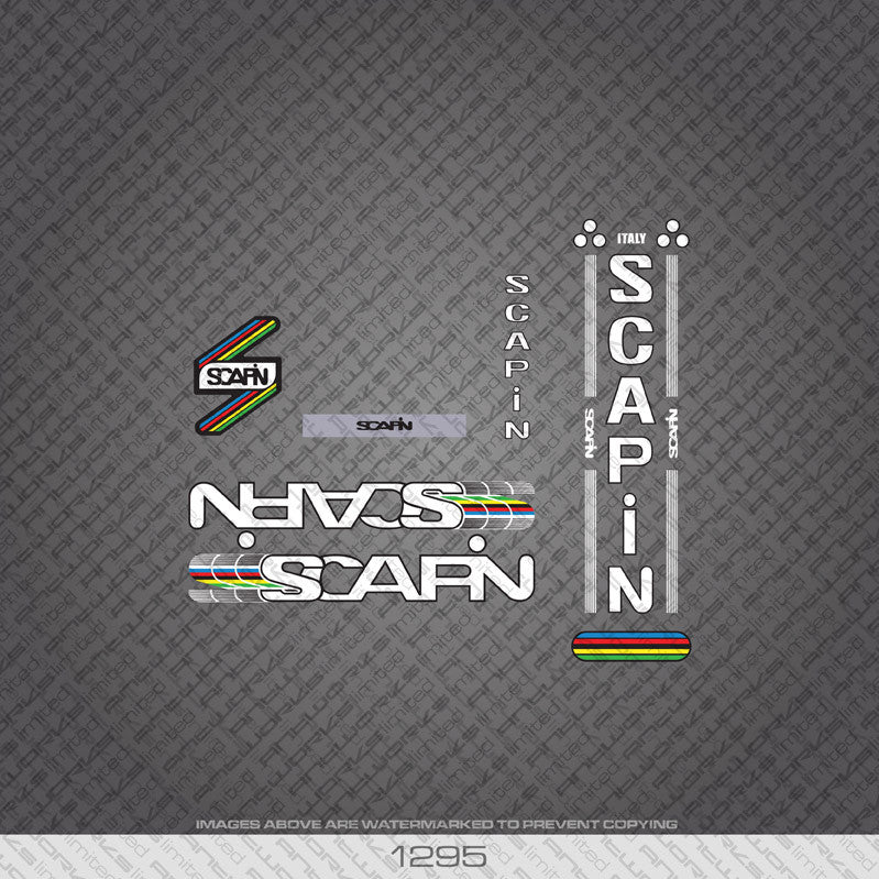 Bicycle Decals Transfers Stickers Set 1 Scapin