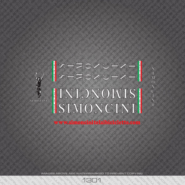Simoncini Bicycle Decals - White - www.bicyclestickers.co.uk