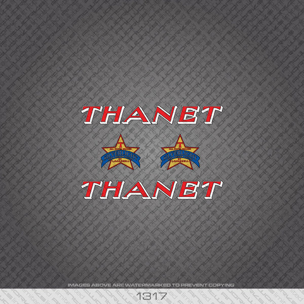 Thanet Bicycle Decals - Red Lettering - www.bicyclestickers.co.uk