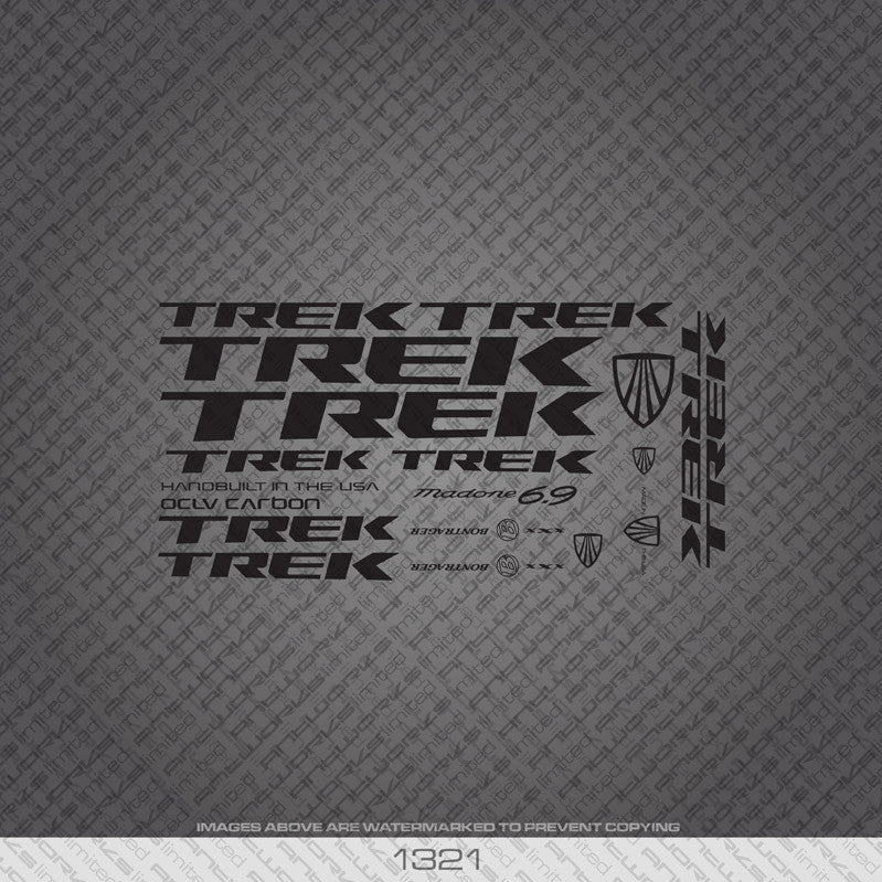 Trek Madone 6.9 Bicycle Decals - Black - www.bicyclestickers.co.uk