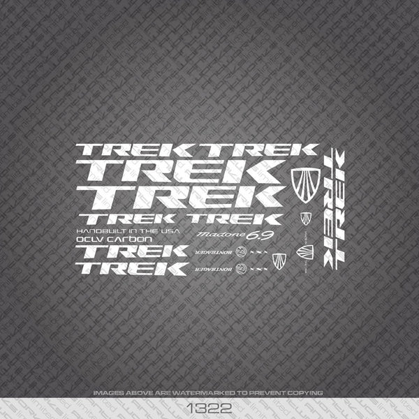 Trek Madone 6.9 Bicycle Decals - White - www.bicyclestickers.co.uk