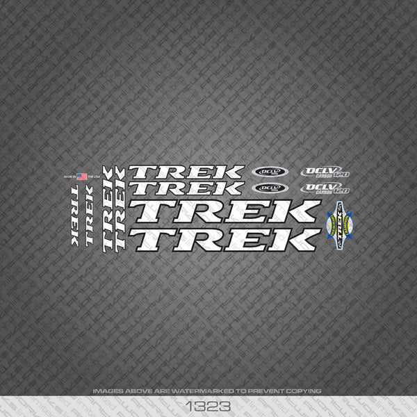 Trek OCLV 120 Bicycle Decals - White - www.bicyclestickers.co.uk