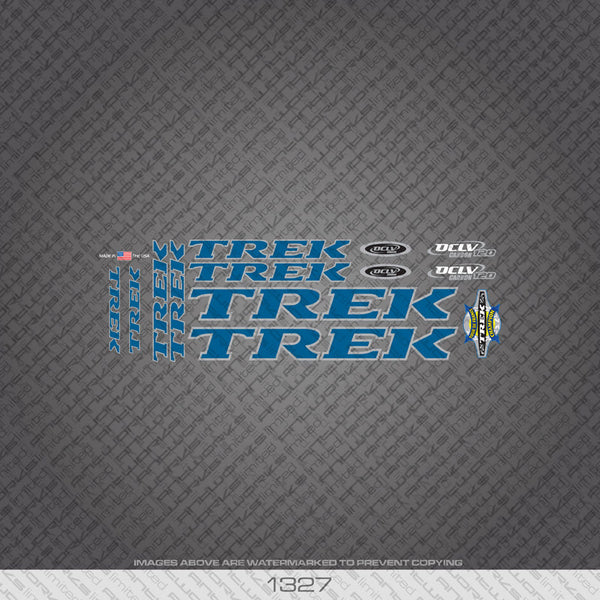 Trek OCLV 120 Bicycle Decals - Blue - www.bicyclestickers.co.uk