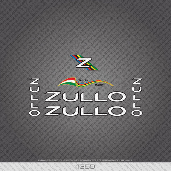 Zullo Bicycle Decals - White - www.bicyclestickers.co.uk