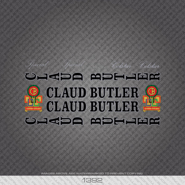 Claud Butler Colstar/Special Bicycle Decals - Black Lettering Silver Key - www.bicyclestickers.co.uk