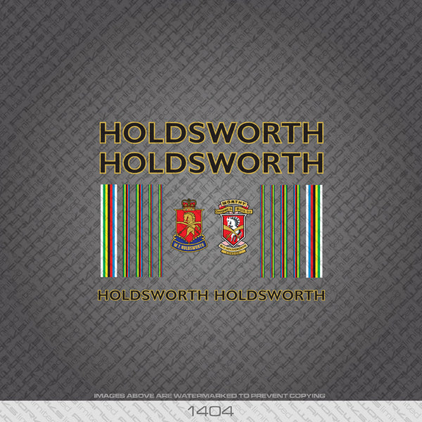 Holdsworth Bicycle Decals - Black With Gold Keyline - www.bicyclestickers.co.uk