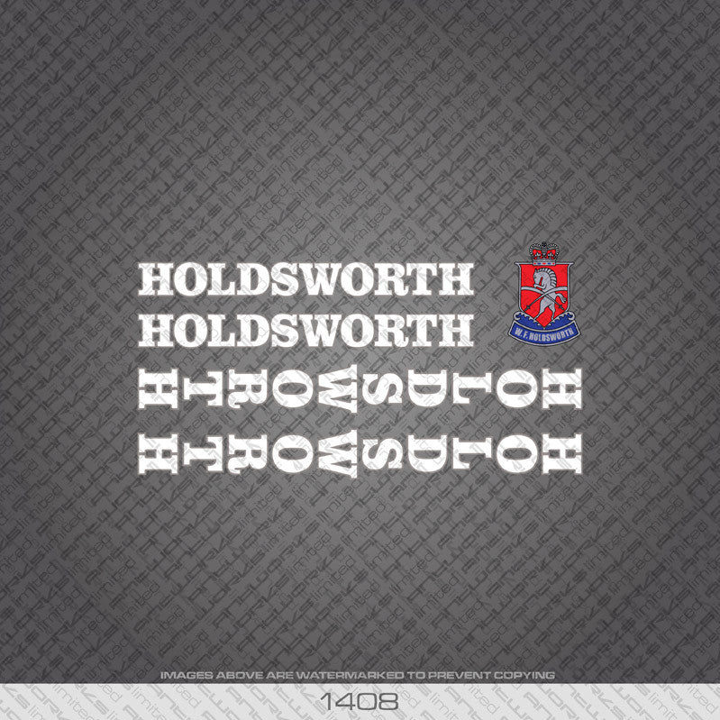 Holdsworth Bicycle Decals - White - www.bicyclestickers.co.uk