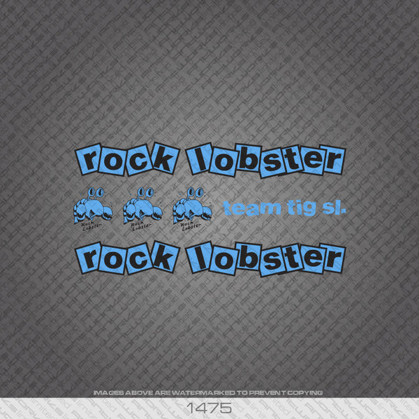 Rock Lobster Bicycle Decals - Blue/Black - www.bicyclestickers.co.uk