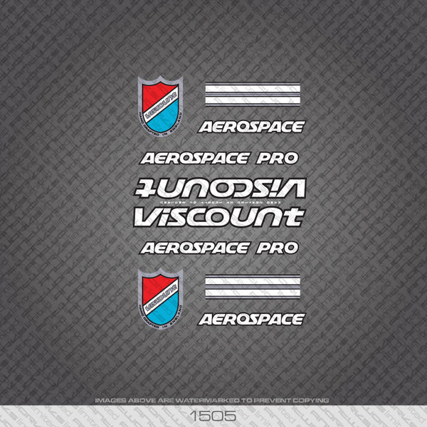 Viscount Aerospace Pro Bicycle Decals - White/Silver