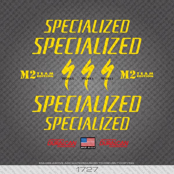 Specialized M2 Team Competition Bicycle Decals
