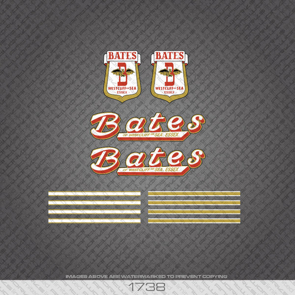 Bates Bicycle Decals
