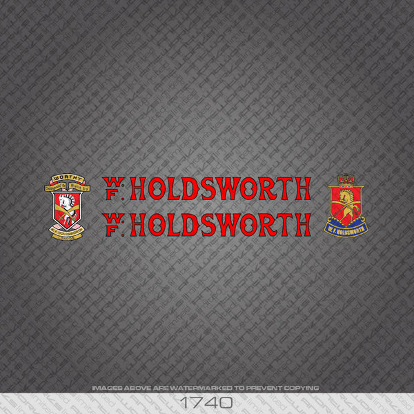 Holdsworth Bicycle Decals - Red/Black