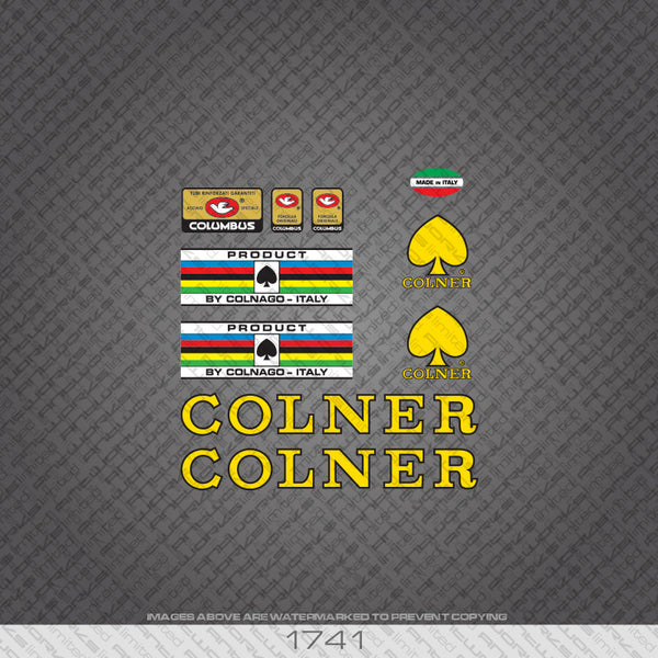 Colner Yellow & Black Bicycle Decals