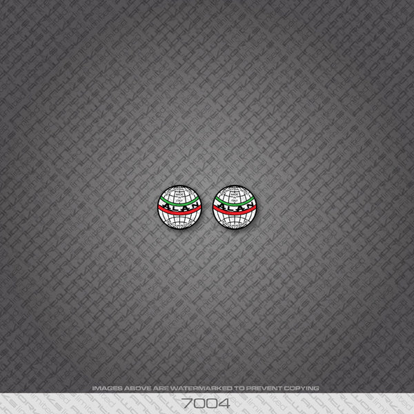 2 x Alan Globe Headbadge Decals.