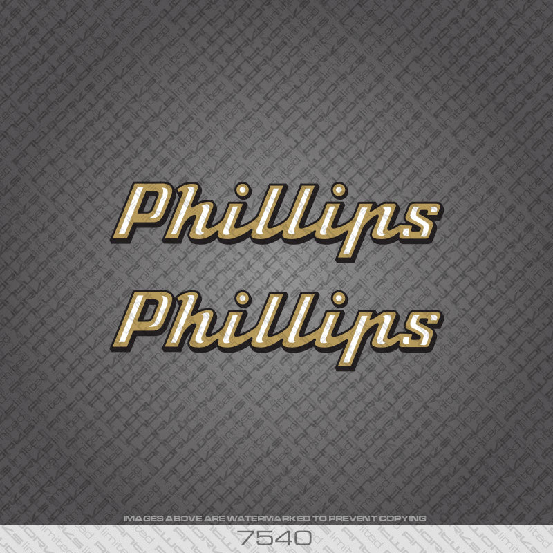 Phillips Down Tube Bicycle Decals