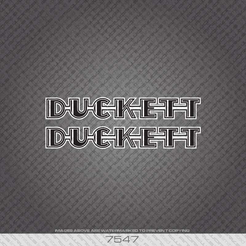 Duckett Down Tube x 2 Bicycle Decals