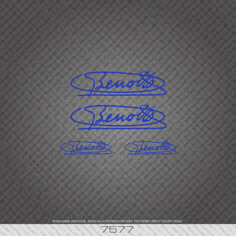 Benotto Signature Blue Bicycle Decal