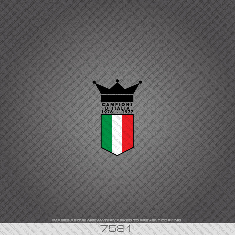 Benotto Campione d'italia Frame Bicycle Decal