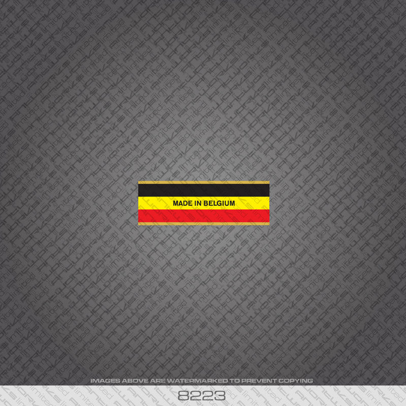 Belgian - Made In Belgium Bicycle Frame Tubing Decal - www.bicyclestickers.co.uk - 24