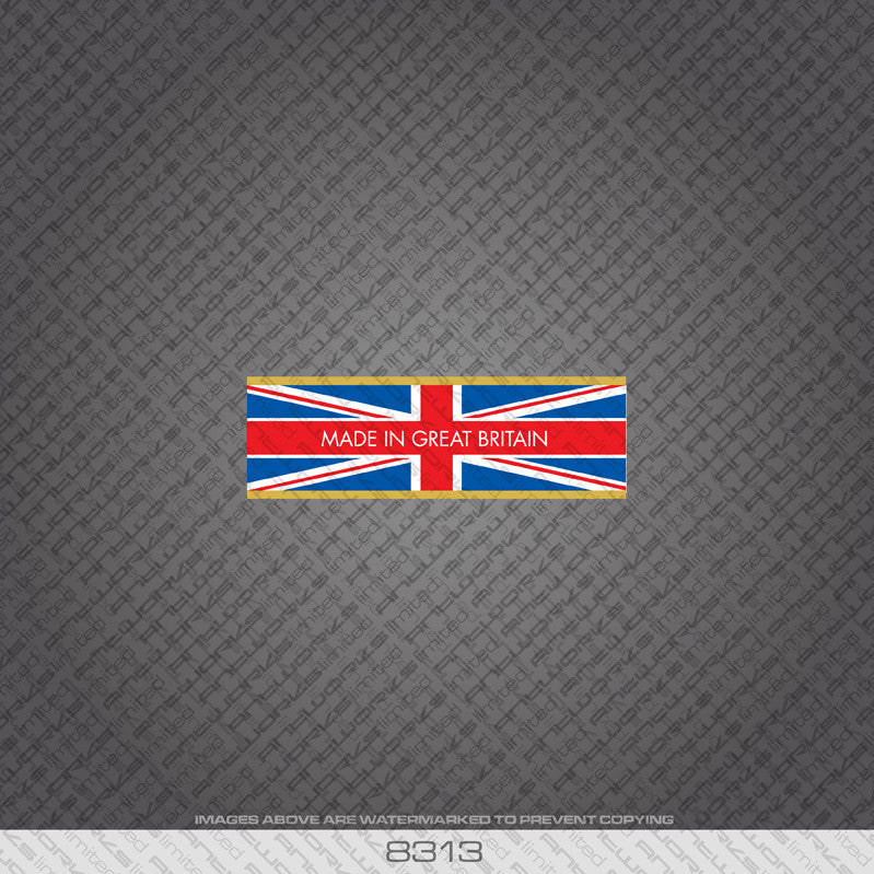 British - Made In Britain Bicycle Frame Tubing Decal - www.bicyclestickers.co.uk - 14