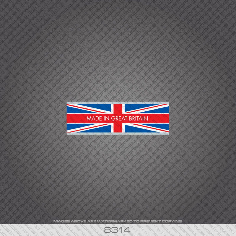British - Made In Britain Bicycle Frame Tubing Decal - www.bicyclestickers.co.uk - 15