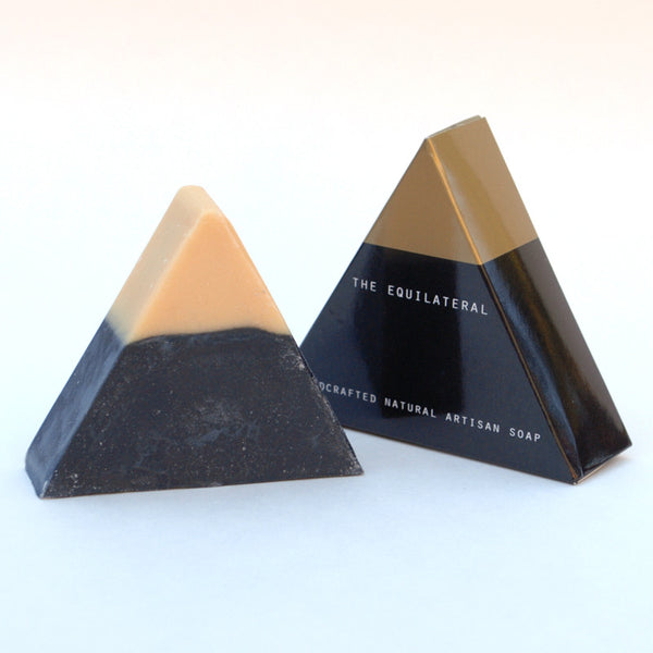 BarSoap Brooklyn Equilateral Soap Activated Charcoal at Reference Point