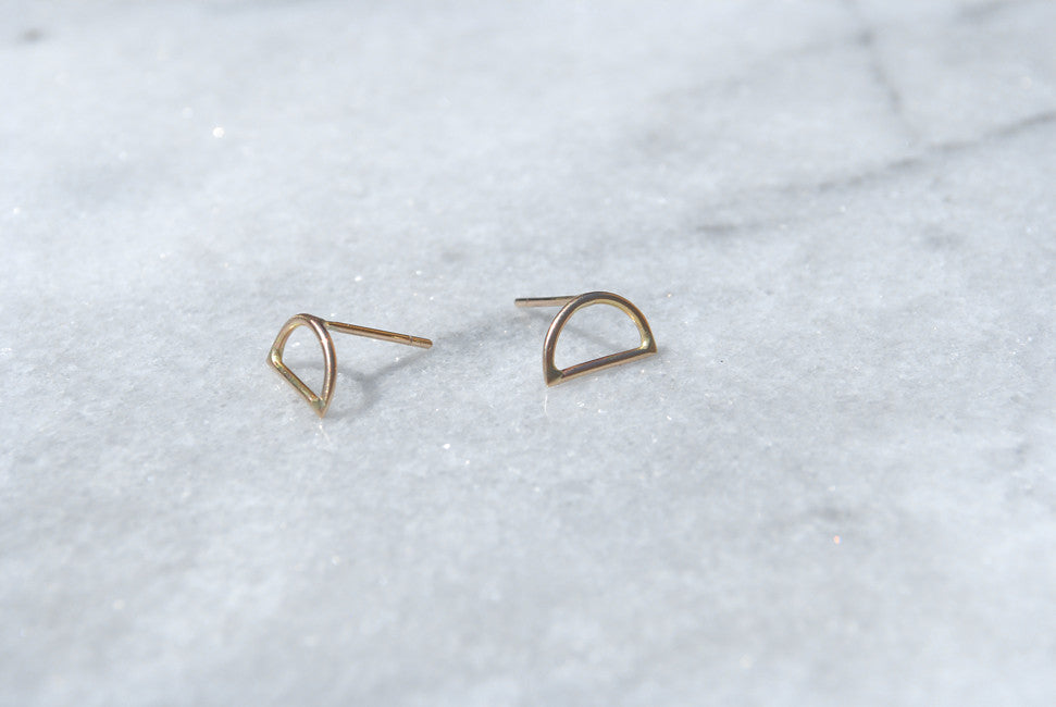 Rachel Gunnard 14k gold Demi stud Earrings at Reference Point