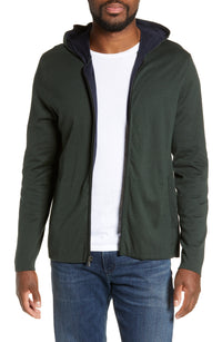 James Perse | Double Layer Zip Front Hoodie