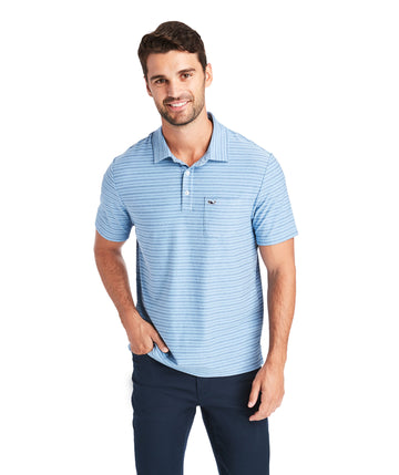 Vineyard Vines | Reverse Feeder Stripe Short Sleeve Edgartown