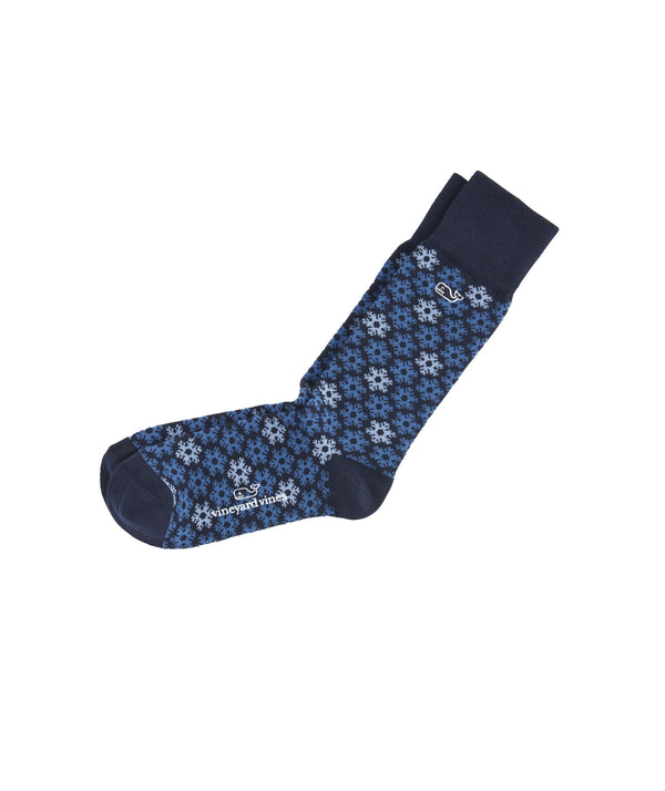 Vineyard Vines | Snowflakes Icon Sockss
