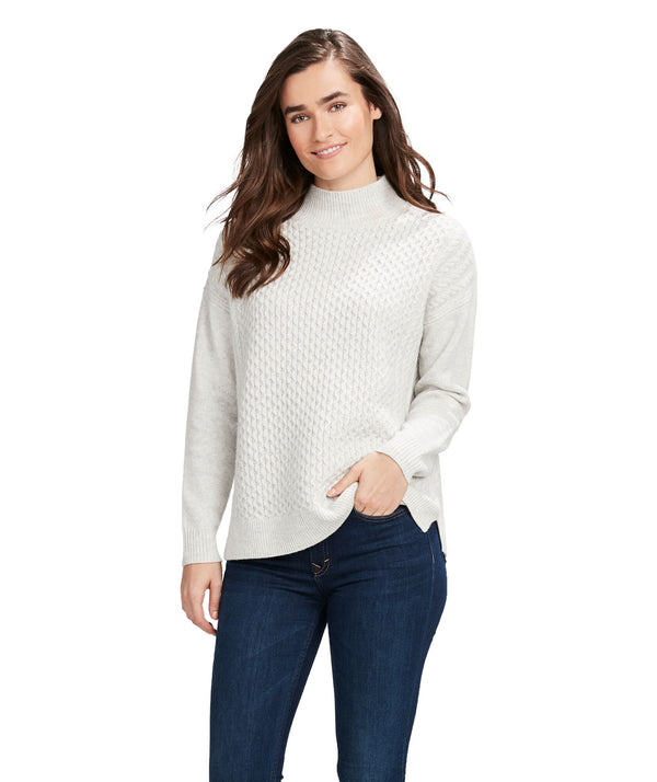 Vineyard Vines | Aran Stitch Mock Neck Sweater