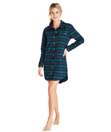 Vineyard Vines | Blackwatch Flannel Shirt Dress